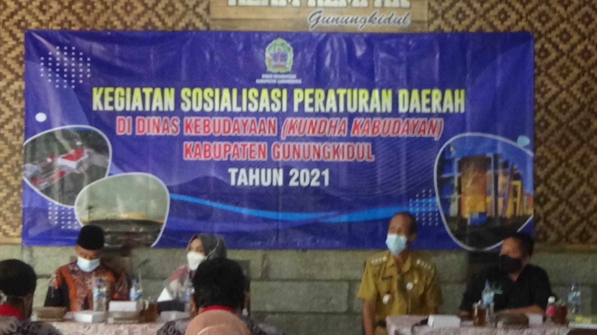 Sosialisasi Peraturan Daerah Tentang Pemeliharaan Dan Pengembangan Kebudayaan